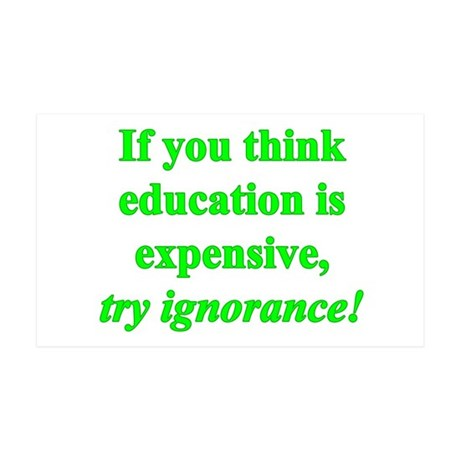 Education quote (green) 38.5 x 24.5 Wall Peel