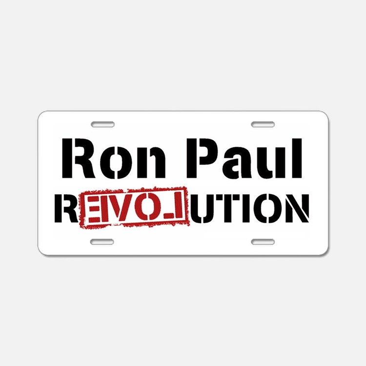 Ron Paul Revolution Aluminum License Plate