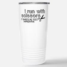 I run with scissors Travel Mug