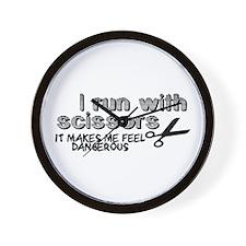 I run with scissors Wall Clock