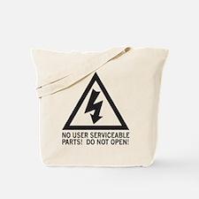 Shock Warning Tote Bag