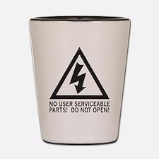Shock Warning Shot Glass