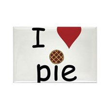 I Love Pie Rectangle Magnet (100 pack)