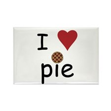 I Love Pie Rectangle Magnet (10 pack)