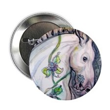 "Horse, colorful, fun, 2.25"" Button"