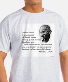 Gandhi Ash Grey T-Shirt