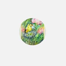 Goldfinch, colorful, Mini Button
