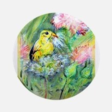 Goldfinch, colorful, Ornament (Round)