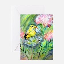 Goldfinch, colorful, Greeting Card
