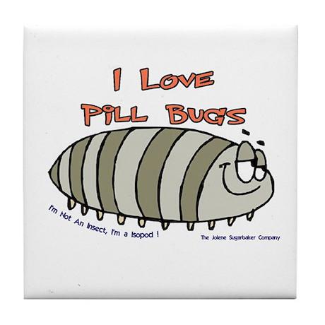 Pill Bug Isapod Tile Coaster