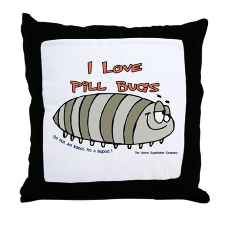 Pill Bug Isapod Throw Pillow