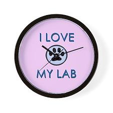I Love My Lab Wall Clock