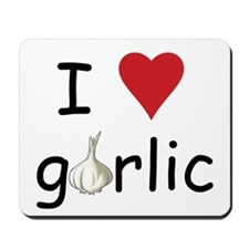 I Love Garlic Mousepad