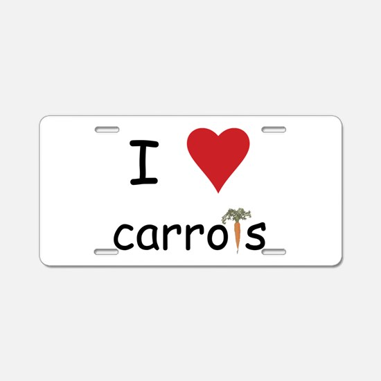 I Love Carrots Aluminum License Plate