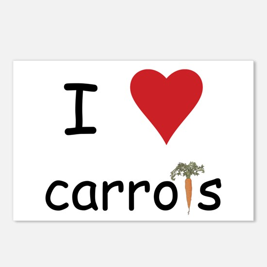 I Love Carrots Postcards (Package of 8)