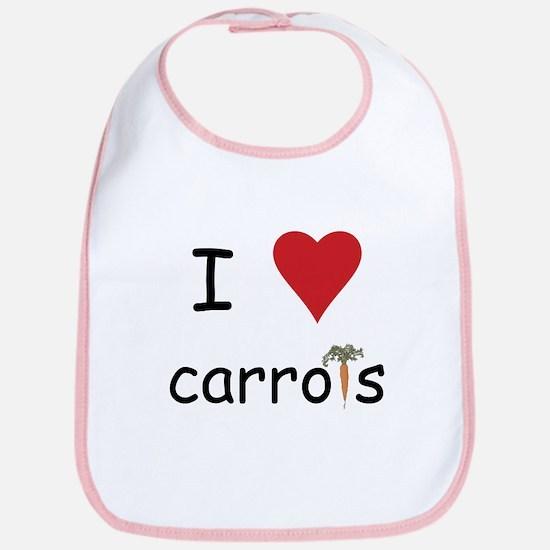 I Love Carrots Bib