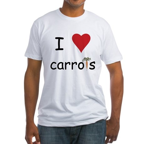 I Love Carrots Fitted T-Shirt