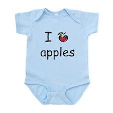 I Love Apples Infant Bodysuit