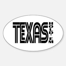 """""""Texas Hold'em"""" Oval Decal"""