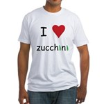 I Love Zucchini Fitted T-Shirt