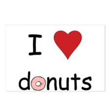 I Love Donuts Postcards (Package of 8)