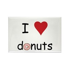 I Love Donuts Rectangle Magnet (10 pack)