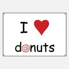I Love Donuts Banner