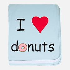 I Love Donuts baby blanket