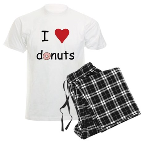 I Love Donuts Men's Light Pajamas