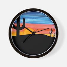 Cactus Sunset Wall Clock