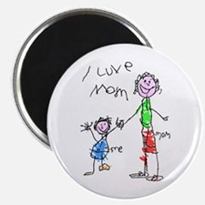 """I Love Mom"" Magnet"