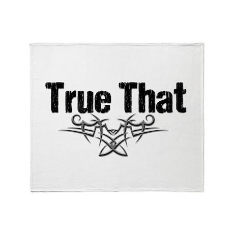 True That Lover V Throw Blanket
