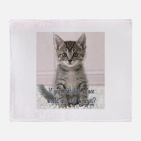 Cat Coat Throw Blanket