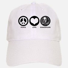 Peace Love Shakespeare Baseball Baseball Cap