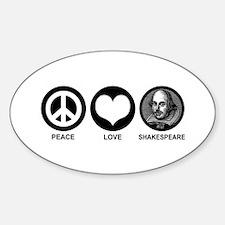Peace Love Shakespeare Decal