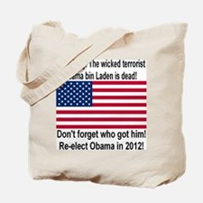Ding Dong! Osama is dead Tote Bag