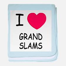 I heart grand slams baby blanket