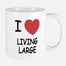 I heart living large Mug