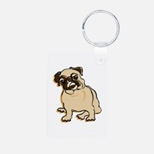 Talk to the Pug Keychains