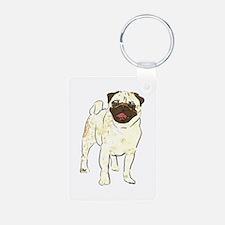 Happy Pug Keychains