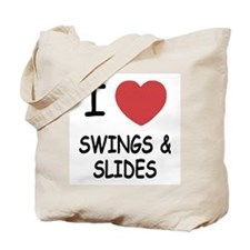 I heart swings and slides Tote Bag