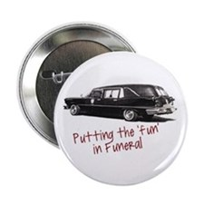 "Cute Hearse 2.25"" Button"