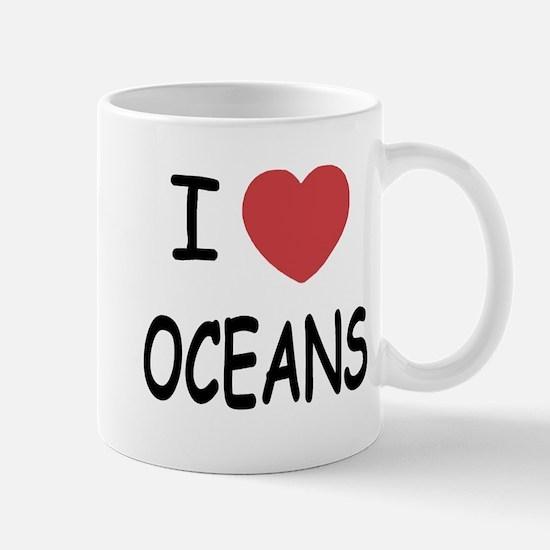 I heart oceans Mug