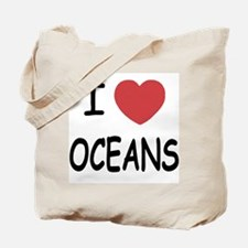 I heart oceans Tote Bag
