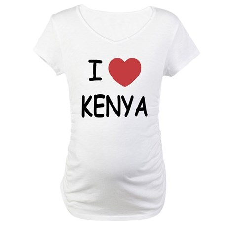 I heart Kenya Maternity T-Shirt