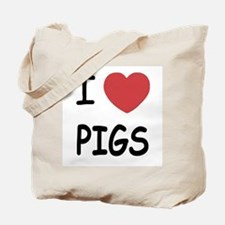 I heart pigs Tote Bag