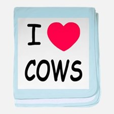 I heart cows baby blanket