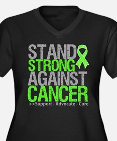 Stand Strong Lymphoma Women's Plus Size V-Neck Dar