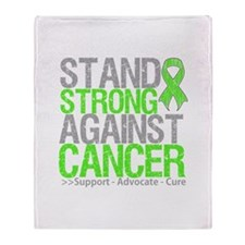 Stand Strong Lymphoma Throw Blanket