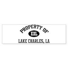 Property of Lake Charles Bumper Bumper Sticker